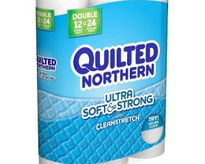 Quilted Northern Ultra Soft & Strong, 24 Supreme Rolls only $15.24!