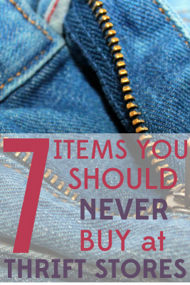 Do you know what to avoid when thrifting? Check out these 7 bargain pitfalls that you should never buy at thrift stores.