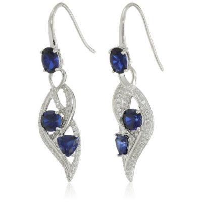 sterling-silver-created-gemstone-and-created-white-sapphire-wave-dangle-earrings-0-500x500