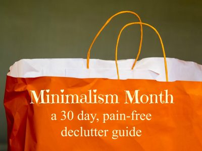 Looking for a more peaceful, simple home? Try this pain-free 30-day declutter guide! Just a few minutes a day will make a huge difference.