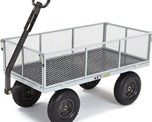 Gorilla Carts Heavy-Duty Steel Utility Cart with Removable Sides Only $97.60!