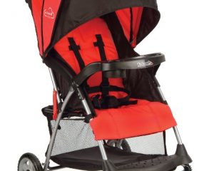 Kolcraft Cloud Plus Lightweight Stroller, Fire Red Only $47.99!