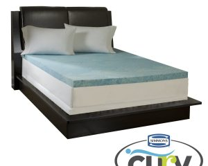 Simmons Curv 3-inch Flat Gel Memory Foam Mattress Topper Only $64.99 – $124.99!