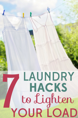 Laundry can take over your life if you let it! These 7 smart laundry hacks will save you time, money, and energy!