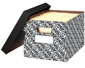 Bankers Box Stor/File Decorative Storage Boxes, Letter/Legal, Brocade, 4 Pack Only $12.92!