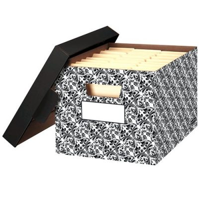 Bankers Box Stor/File Decorative Storage Boxes Letter/Legal Brocade 4 Pack Only $12.92!  sc 1 st  Bargain Babe & Bankers Box Stor/File Decorative Storage Boxes Letter/Legal ...