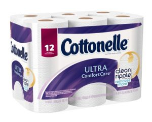 Cottonelle Ultra ComfortCare Big Roll Toilet Paper, Bath Tissue, 12 Count Only $3.99!