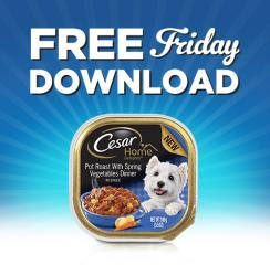 Friday Freebies – Free Cesar Premium Wet Food for Dogs