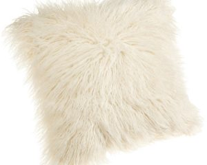 Brentwood 18-Inch Mongolian Faux Fur Pillow, Natural Only $8.09!