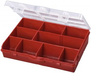 Stack-On 10 Compartment Storage Organizer Box with Removable Dividers Only $2.48!