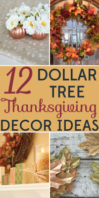 Decorating on a budget 12 dollar tree thanksgiving decor Cheap thanksgiving table setting ideas