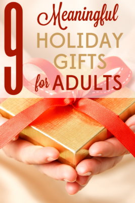 Holiday gifts are best when they're thoughtful and personal. Check out these 9 meaningful holiday gifts for adults.