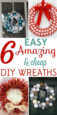 Christmas wreaths are such beautiful decor, but the prices can be outrageous! These 6 easy and amazing DIY wreaths will save you big bucks.