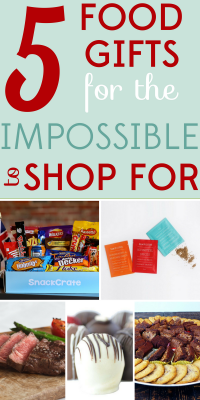 Some people are just impossible to shop for! When in doubt, turn to consumables. Here are 5 food gifts that would make anyone happy.