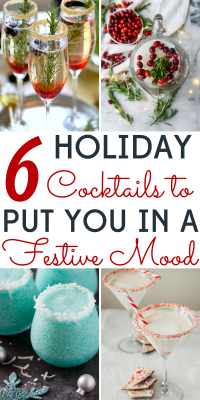 Don't get stuck in a rum & eggnog rut! We've got 6 Christmas cocktails that will put you in the holiday spirit!