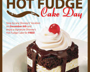 Tuesday Freebies – Free Hot Fudge Cake at Shoney's!