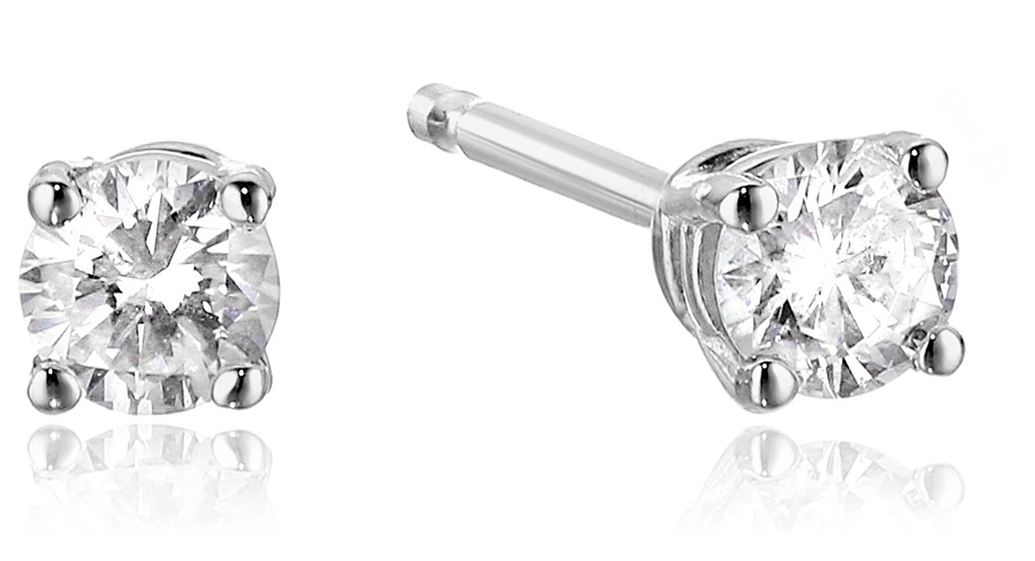14k diamond with screw back and post stud earrings only. Black Bedroom Furniture Sets. Home Design Ideas