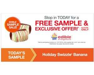 Wednesday Freebies – Free Holiday Swizzle Banana at Edible Arrangements!
