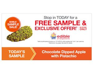 Wednesday Freebies – Free Chocolate Dipped Apple with Pistachio at Edible Arrangements