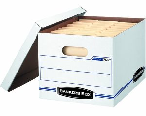 Bankers Box/File Storage Box with Lift-Off Lid, Letter/Legal, 12 Pack Only $19.99!