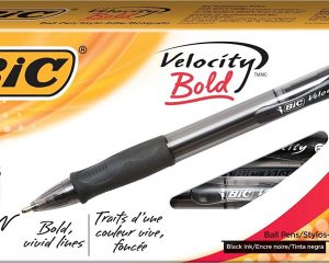 BIC Velocity Ballpoint Bold Point,1.6 mm Retractable Pen (Pack of 12) Only $4.79!