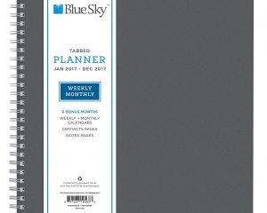 Blue Sky 2017 Weekly & Monthly Planner, Wire-O Binding, Charcoal Cover Only $7.15!