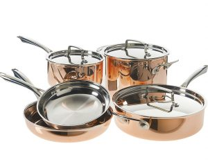 Cuisinart Tri-Ply Copper Cookware Set (8-Piece) Only $199.99!