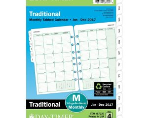 Day-Timer Monthly Planner Refill 2017, 5-1/2 x 8-1/2″ Only $3.38!