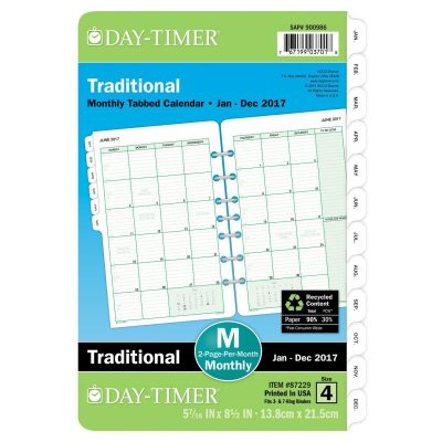 DayTimer Monthly Planner Refill   X  Only
