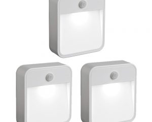 Mr. Beams Motion-Sensing LED Stick-Anywhere Nightlight, 3-Pack Only $15.49!