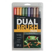 Tombow Dual Brush Pen Art Markers, Secondary, 10-Pack Only $14.80!