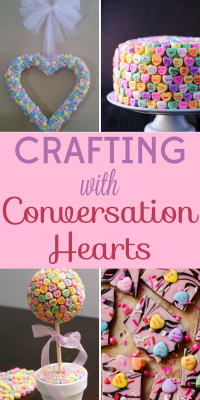 Conversation hearts are sweet, silly, and perfect for crafting! Capture the spirit of Valentine's Day with these 6 conversation hearts crafts.
