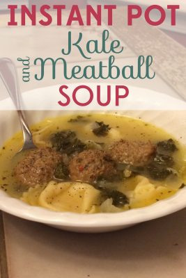 This easy peasy Kale & Meatball Soup recipe is the perfect weeknight dinner and a terrific introduction to pressure cooking!