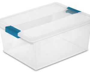 4 pack Sterilite Storage Boxes, with clip latch