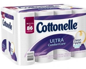 Cottonelle 36 Family Rolls Toilet Paper only $16.99!