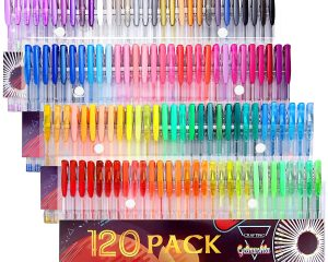Gelmushta Gel Pens, 120 Unique Colors, Only $18.60!
