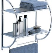 Organize-it-All Two Tier Shelf with Towel Bars $11.98