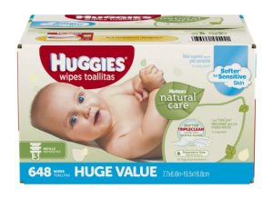 Huggies Natural Care Baby Wipes 648 count, $11.08
