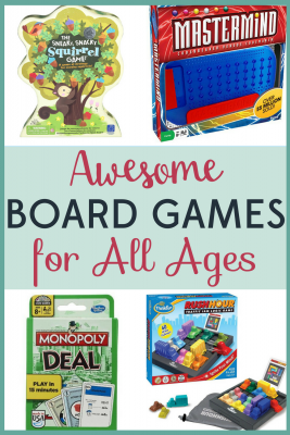 Board games are a great way to turn off the screens and spend time together as a family! These awesome board games will appeal to all ages!
