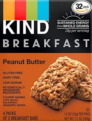 KIND Breakfast Peanut Butter Bars, 32 count $17.02