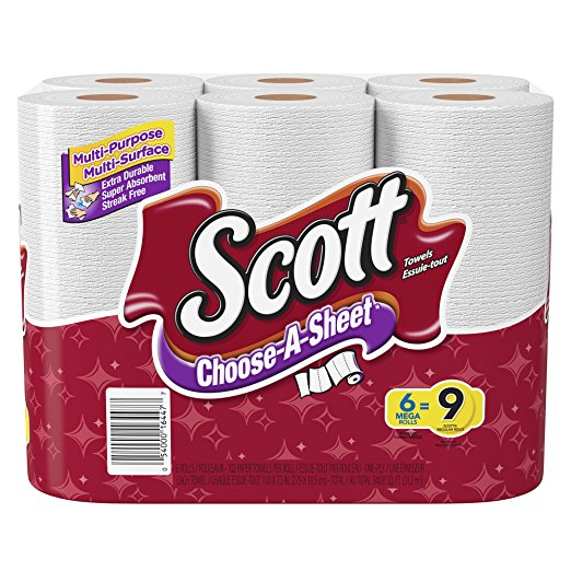 Scott Lint Free Paper Towels: Scott Towels 6 Count Choose A Size Paper Towels $3.99
