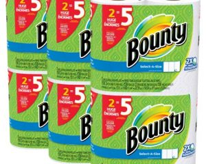 Bounty Select-a-Size Paper Towels, White, Huge Roll, 12 Count Only $21.99!