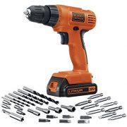 Black + Decker Lithium Ion Drill/Driver with accessories $41.99