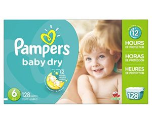 Pampers Baby Dry, size 6 (128 count package) only $17.40