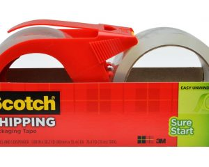 Scotch Sure Start Shipping Packaging Tape, 2 Rolls and 1 Dispenser Only $5.97!