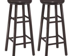 Winsome Wood 30-Inch Swivel Bar Stools, Dark Espresso Finish, Set of 2 Only $48.30!