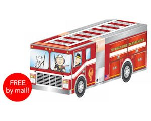 Tuesday Freebies-Free 3-D Firetruck Activity Sheet