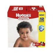 Huggies Snug & Dry Diapers, size 3 (222 count) $26.30