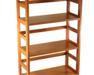 Winsome Wood 4-Tier Bookshelf, Honey Only $46.15!