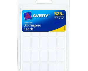 Avery Removable Labels, Rectangular, White, Pack of 525 Only $0.98!